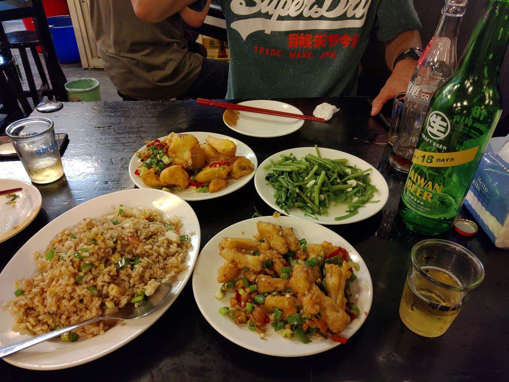 熱炒の夕食