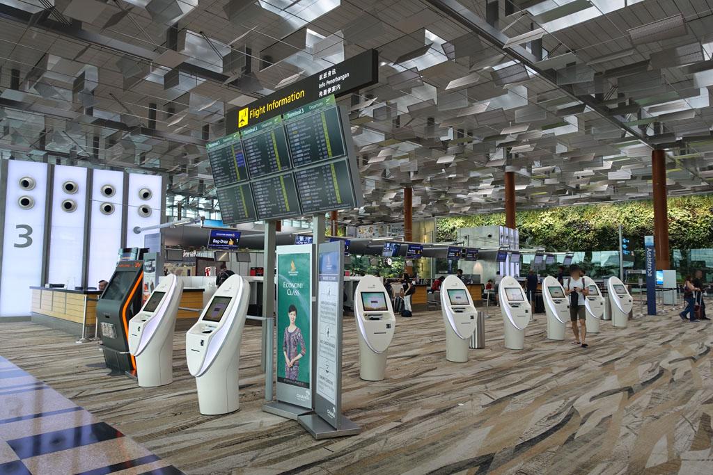 チャンギ空港T3カウンター