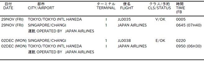 C3AFA-SG 航空券