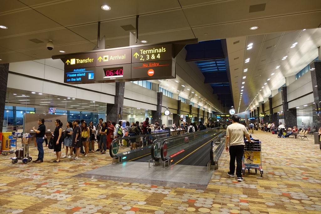 チャンギ空港 制限エリア