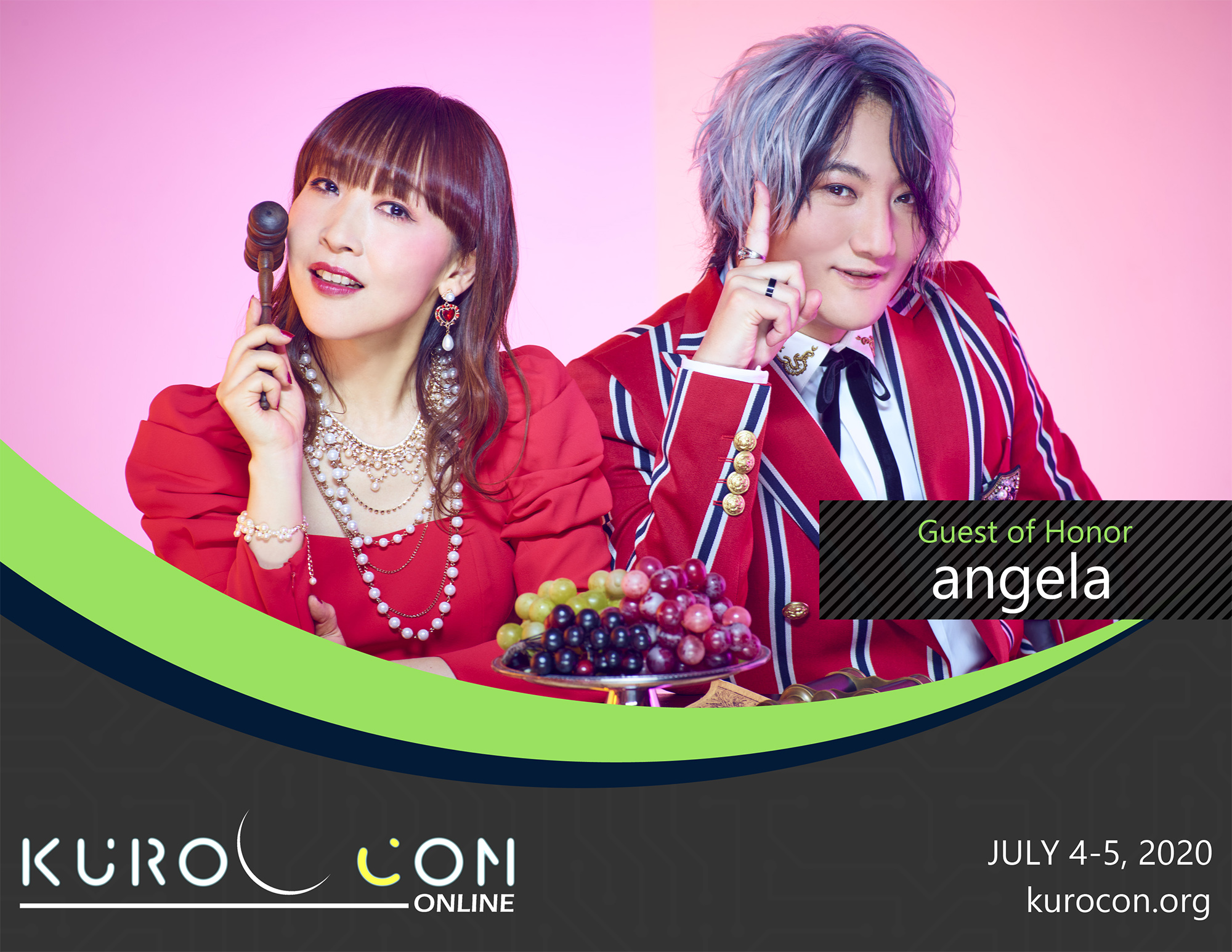 KuroCon Onlineの配信スケジュール発表&angelaさんの出演が発表