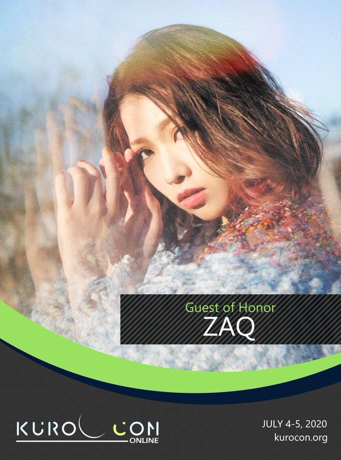 KuroCon Onlineに、ZAQさんの出演が発表